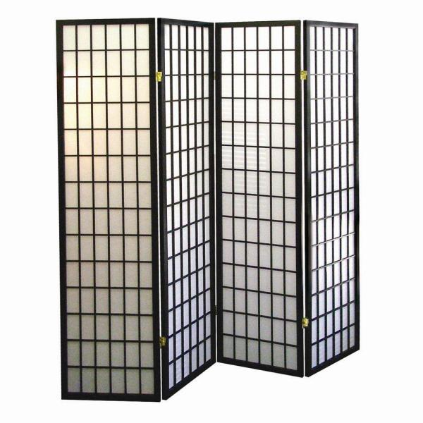 Sensational 5 83 Ft Black 4 Panel Room Divider Best Image Libraries Weasiibadanjobscom