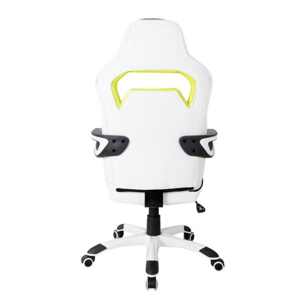 Techni Mobili Ergonomic Essential Racing Style White Home And Office Chair Rta 2021 Wht The Home Depot