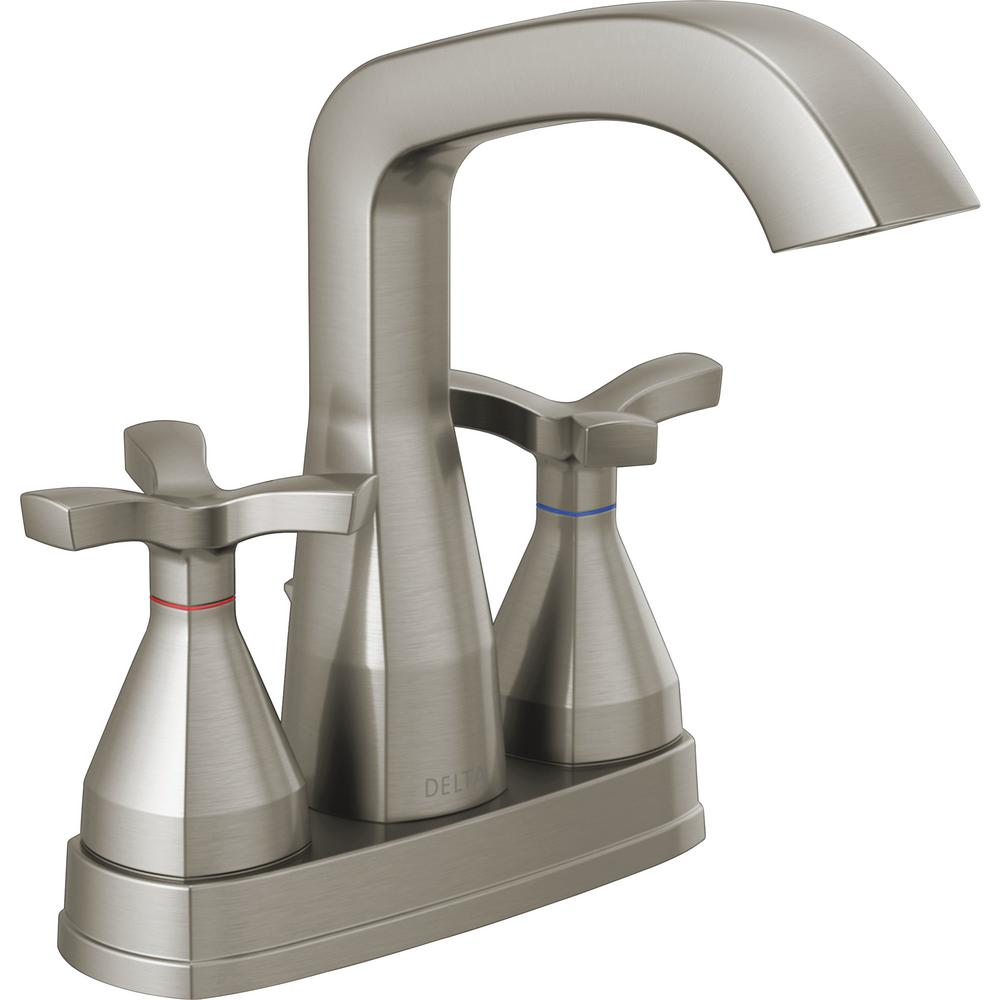 Delta Stryke 4 in. Centerset 2-Handle Bathroom Faucet in Stainless