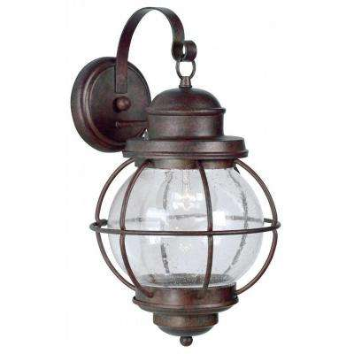 Hatteras 1-Light Gilded Copper Large Wall Lantern