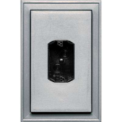 8.125 in. x 12 in. #016 Gray Jumbo Electrical Mounting Block Centered