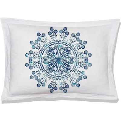 Tiffany Blue/White Queen Pillow Cover (Set of 2)