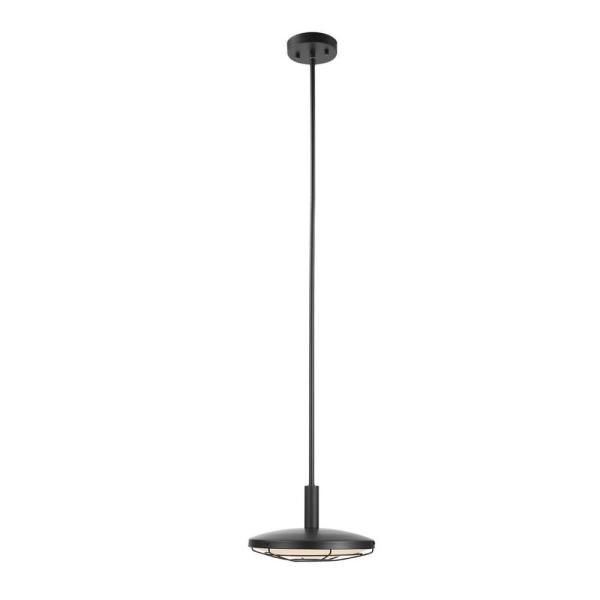 Skye LED Integrated Black Outdoor Indoor Dimmable Pendant Lighting with Frosted Diffuser