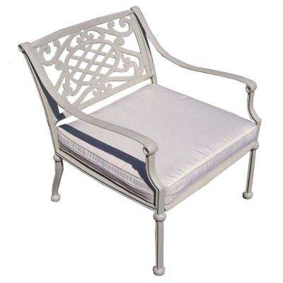 Tacoma Aluminum Outdoor Deep Seat Lounge Chair with Oatmeal Cushions