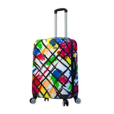 Designer Art 24 in. Pop Brush Hard Side Spinner Suitcase