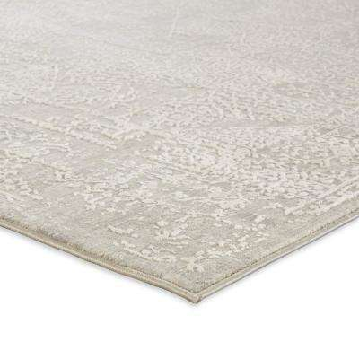 Cirque Gray 2 ft. 6 in. x 8 ft. Abstract Runner Rug