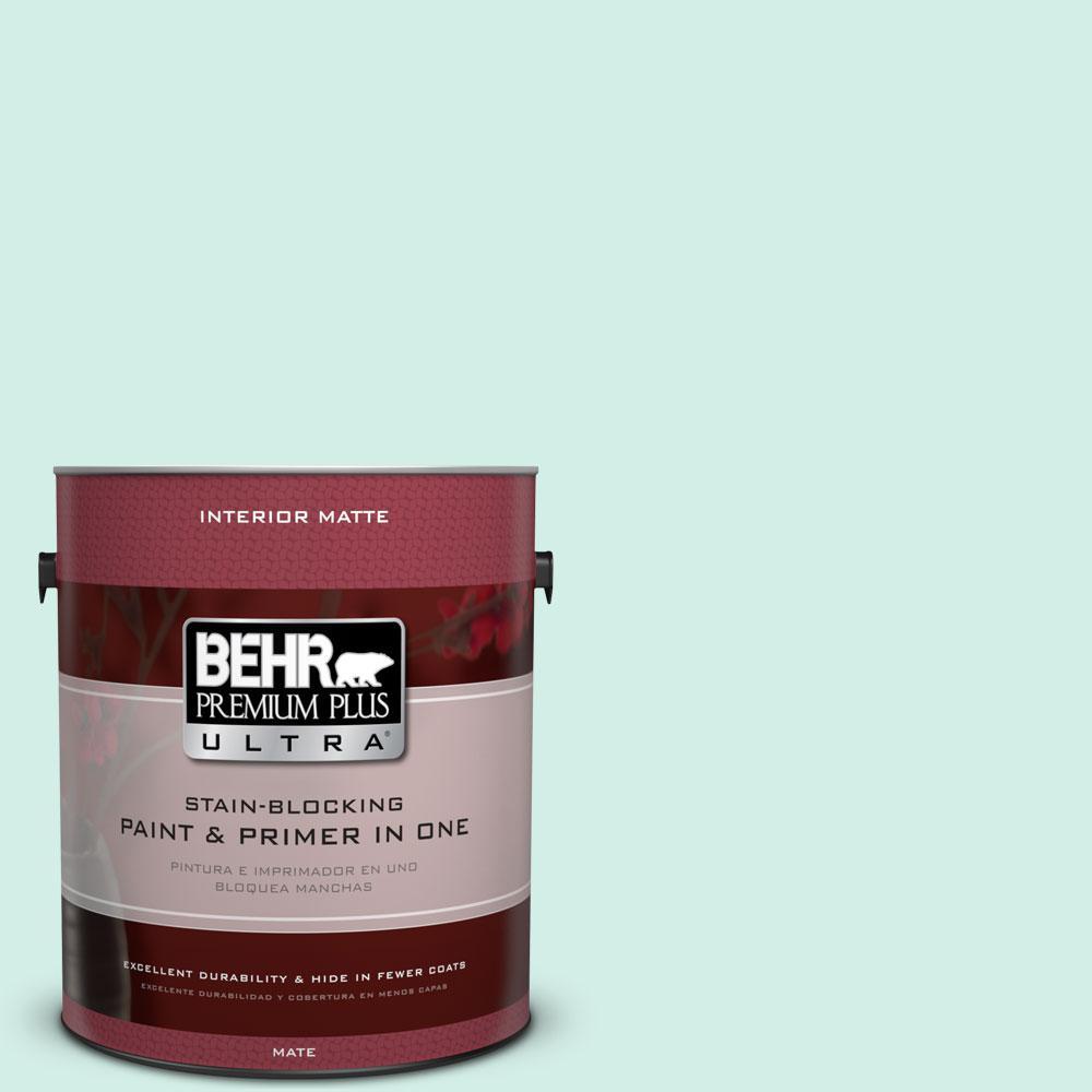 BEHR Premium Plus Ultra Home Decorators Collection 1 gal. #HDC-MD-19 Soft Mint Flat/Matte Interior Paint