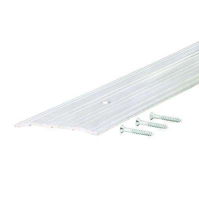 Fluted Saddle 5 in. x 96 in. Aluminum Commercial Threshold
