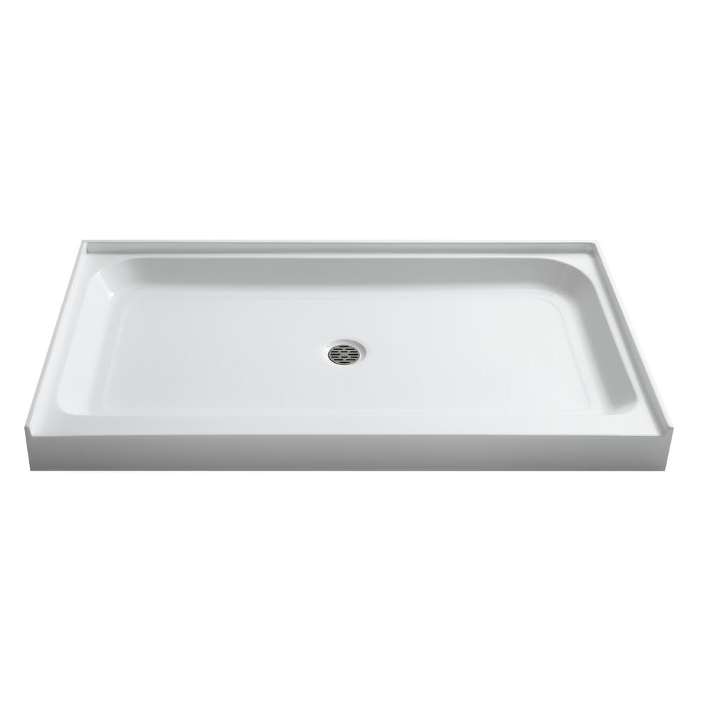Tier 36 in. x 60 in. Single Threshold Shower Base in