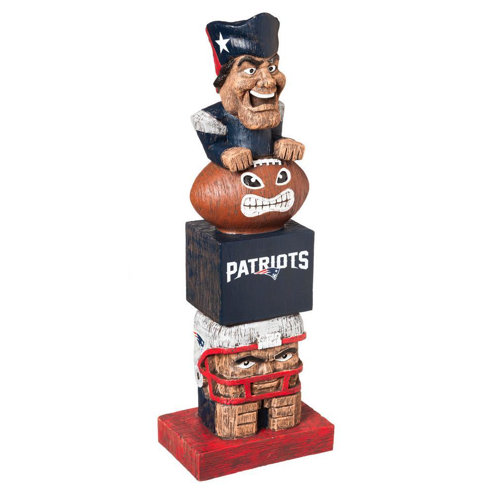 Evergreen New England Patriots Tiki Totem Garden Statue