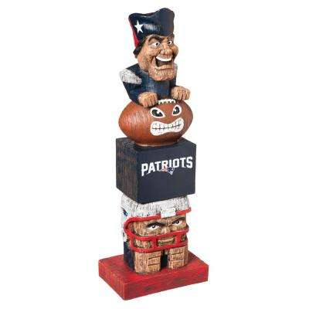 New England Patriots Tiki Totem Garden Statue