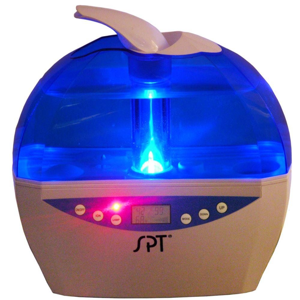 Spt Ultrasonic Humidifier Blue With Sensor Lcd Su