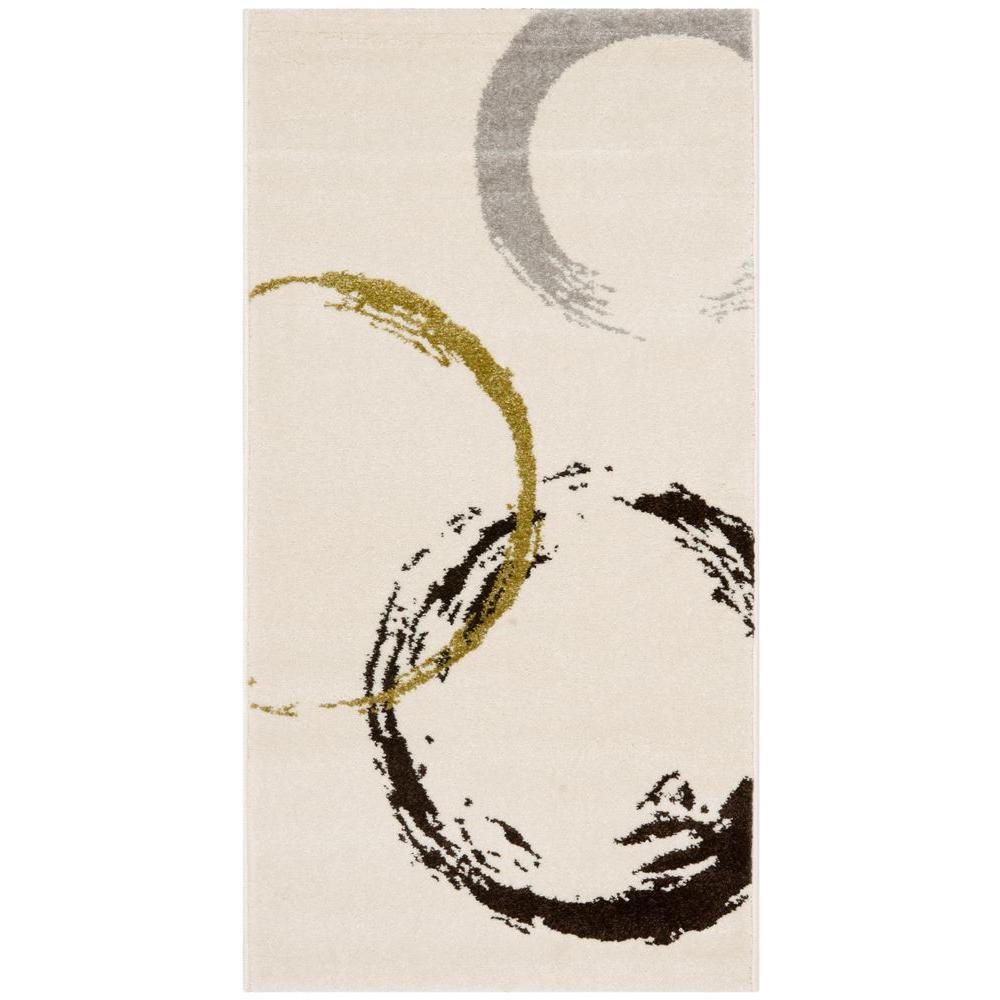 Safavieh Porcello Ivory/Green 2 ft. 7 in. x 5 ft. Area Rug