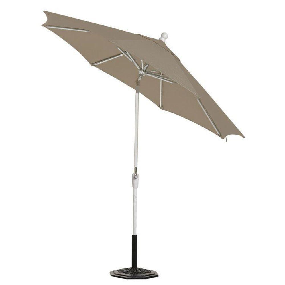 Home Decorators Collection Sunbrella 11 ft. Auto-Tilt Patio Umbrella in Spectrum Graphite