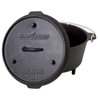 Deluxe Preseasoned Cast Iron 10 in. Dutch Oven