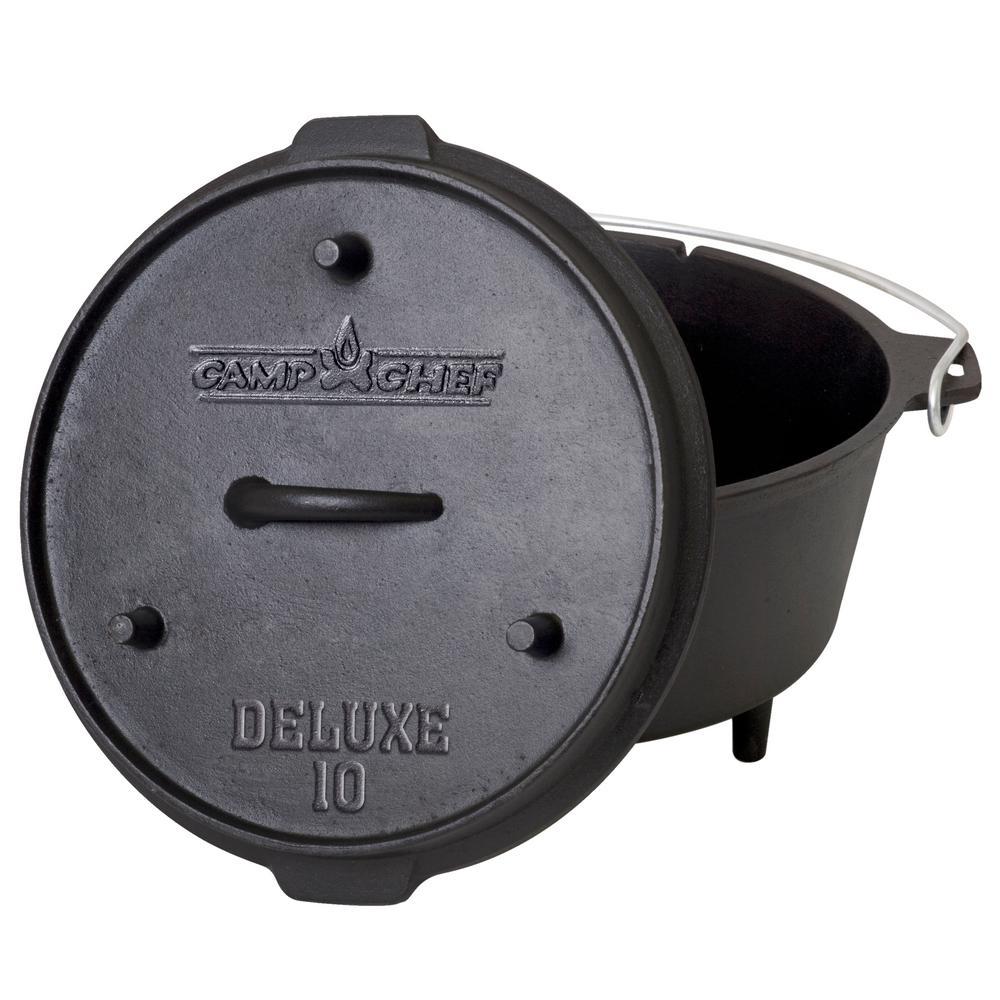 Deluxe Preseasoned Cast Iron 10 in. Dutch Oven