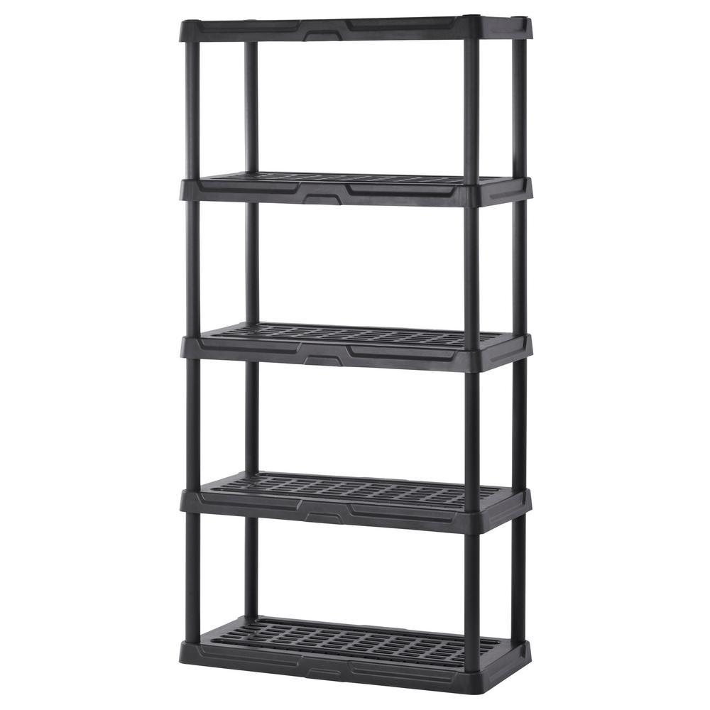 sandusky 72 in h x 36 in w x 24 in d 5 shelf black. Black Bedroom Furniture Sets. Home Design Ideas
