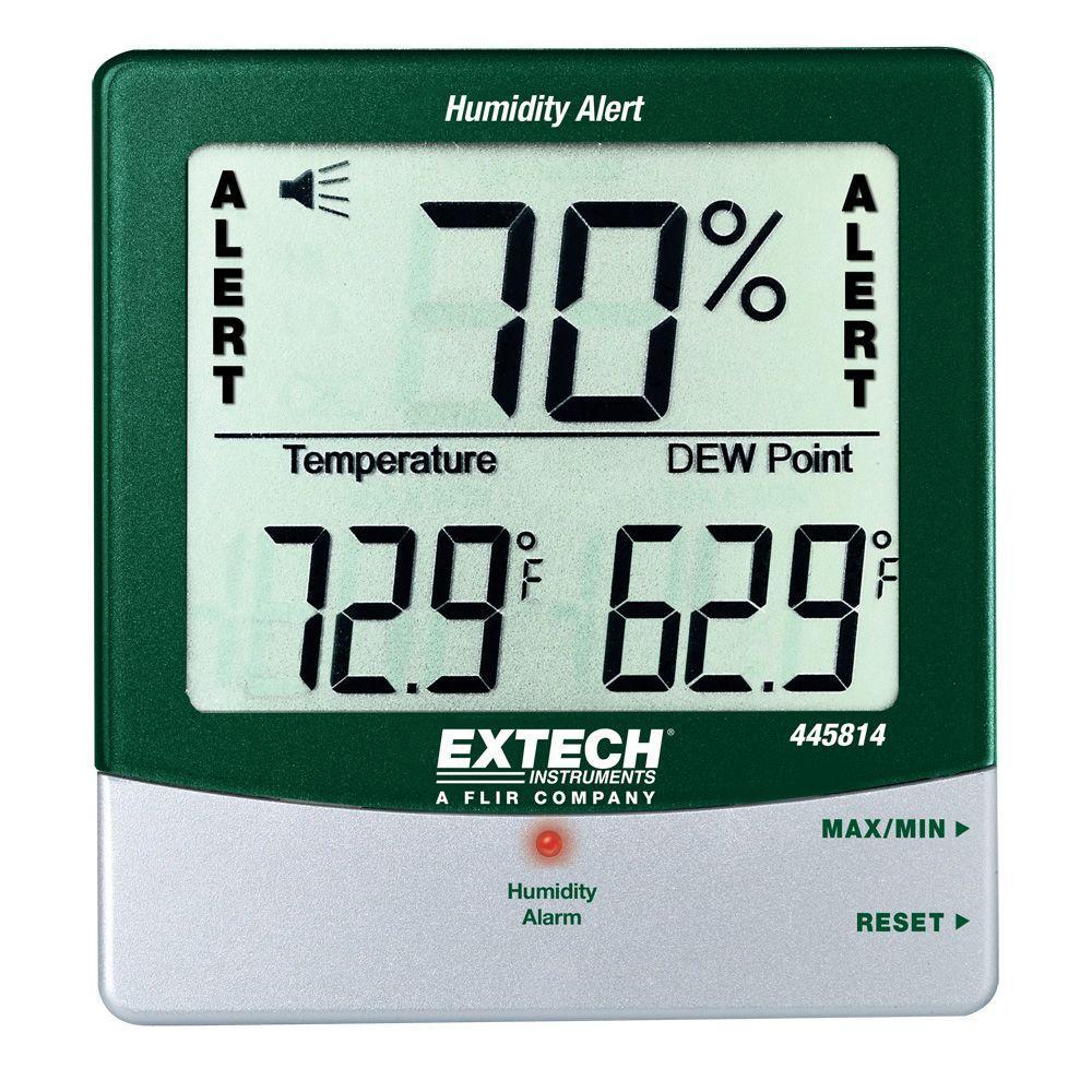 Extech Big Digit Humidity Alert Hygro-Thermometer