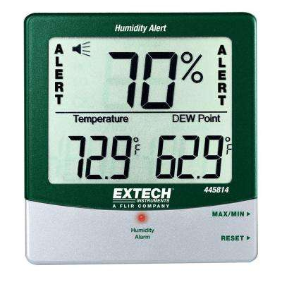 Big Digit Humidity Alert Hygro-Thermometer