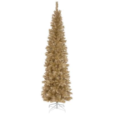 6 ft. Champagne Tinsel Artificial Christmas Tree