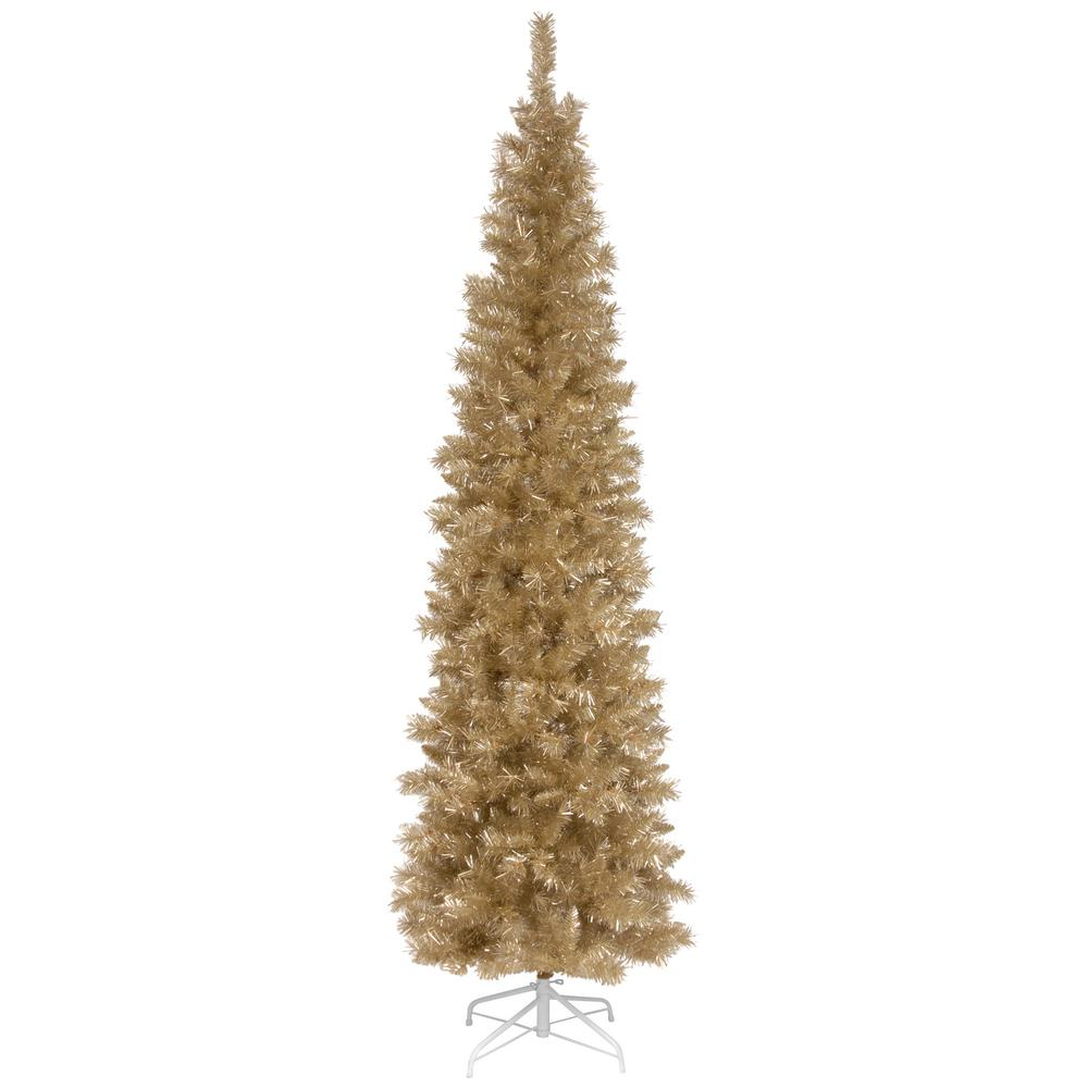 national tree company 6 ft champagne tinsel artificial christmas tree - National Christmas Tree Company