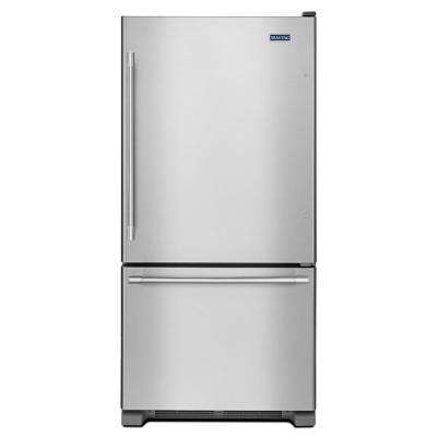 33 in. W 22 cu. ft. Bottom Freezer Refrigerator in Fingerprint Resistant Stainless Steel