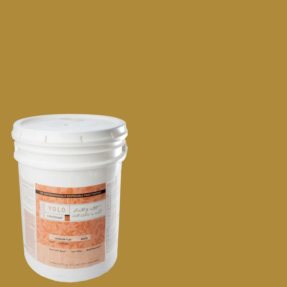 YOLO Colorhouse 5-gal. Grain .07 Flat Interior Paint-DISCONTINUED