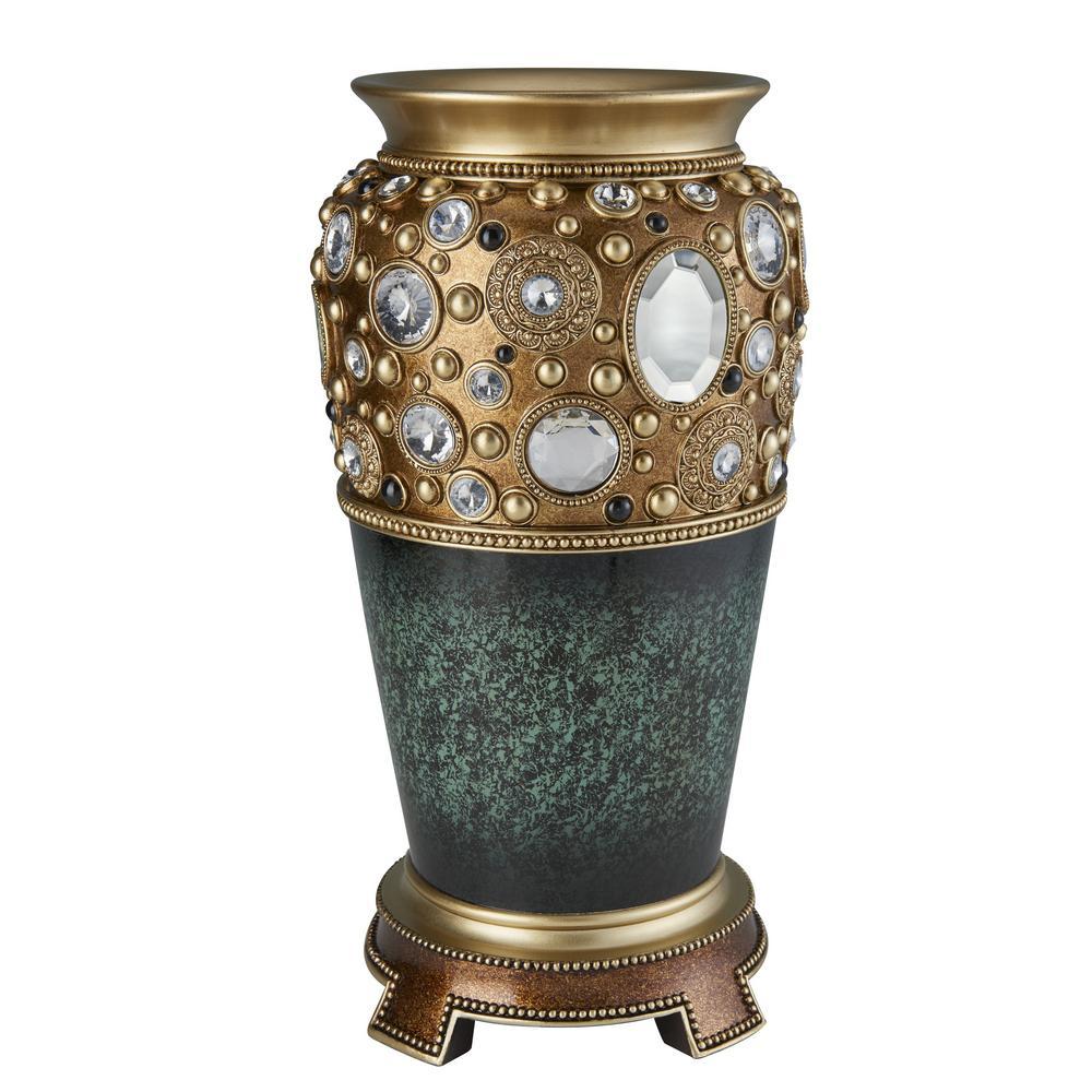 Sedona Marbelized Green Decorative Vase