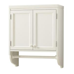 Martha Stewart Living 30 In. H X 24 In. W Laundry Storage Wall Mounted  Cabinet With Clothing Rod In Picket Fence 1635700410   The Home Depot
