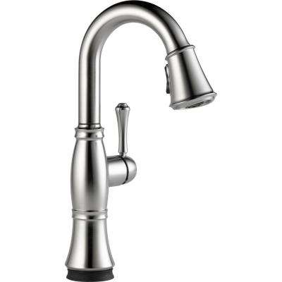 Cassidy Touch Single-Handle Pull-Down Sprayer Bar Faucet in Arctic Stainless