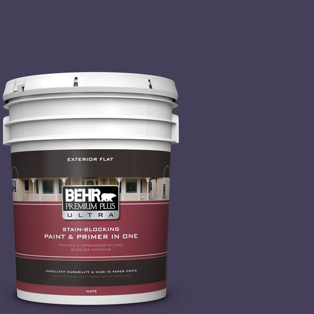 BEHR Premium Plus Ultra 5-gal. #S-H-640 Purple Blanket Flat Exterior Paint