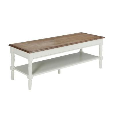 French Country Driftwood and White Coffee Table