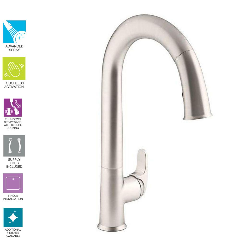 Kohler Sensate Ac Powered Touchless Kitchen Faucet In