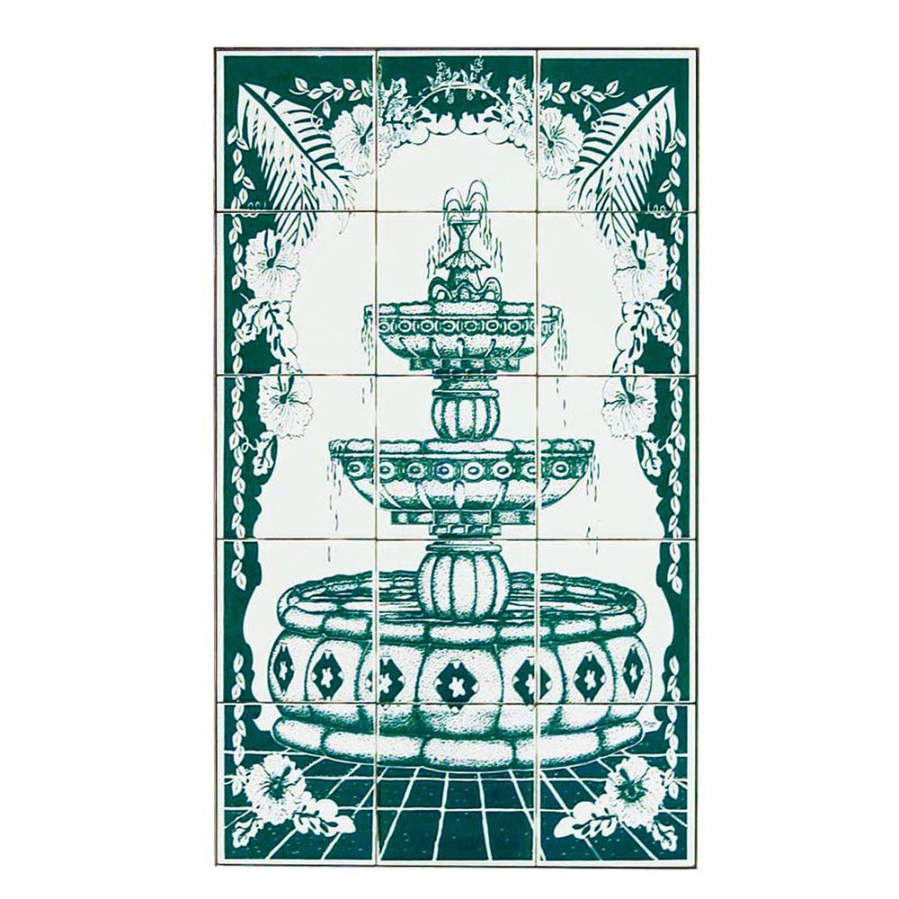 4.25 in. x 4.25 in. Foutain Green Tiles (15-Pieces)-DISCONTINUED