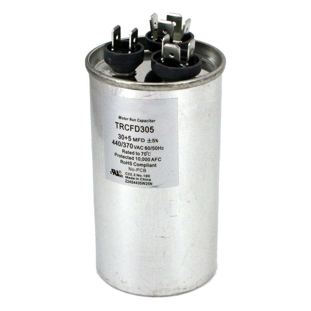 Packard 440-Volt 30/5 MFD Dual Rated Motor Run Round Capacitor