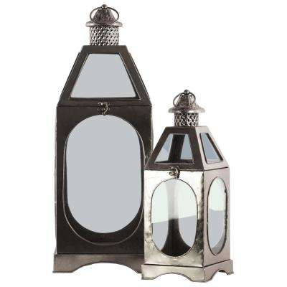 Silver Candle Metal Decorative Lantern