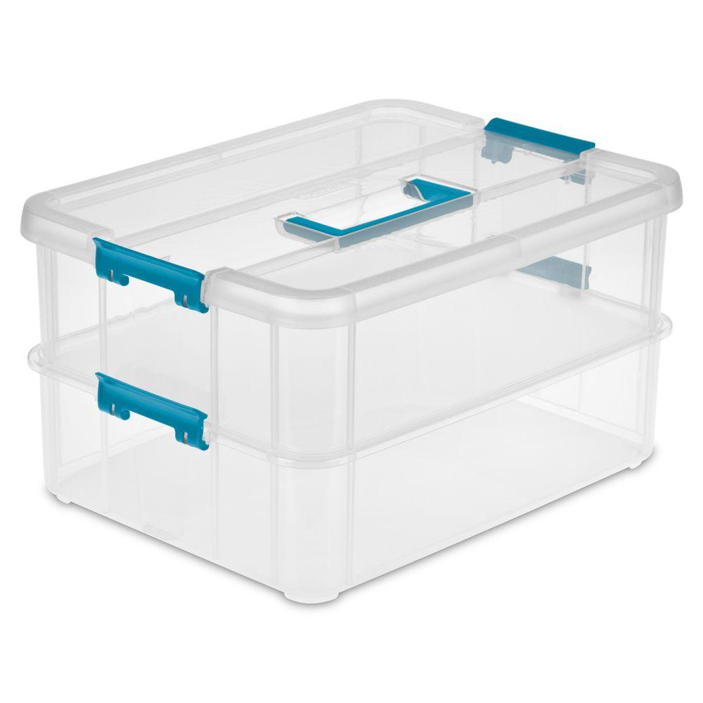 Sterilite Stack and Carry 2 Layer Storage Organizer