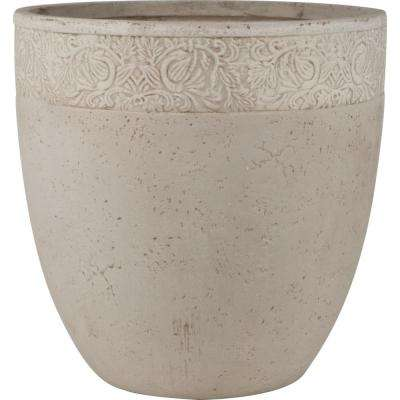 Origins Fiore 18 in. Sand Fiberclay Round Planter