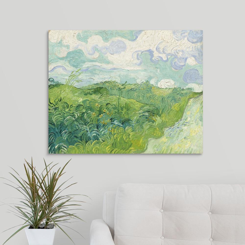 Print Van Gogh Post Impressionism 2 Green Wheat Fields