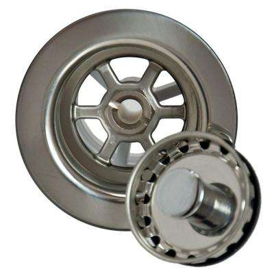 2 in. Bar Sink Strainer in Polished Stainless