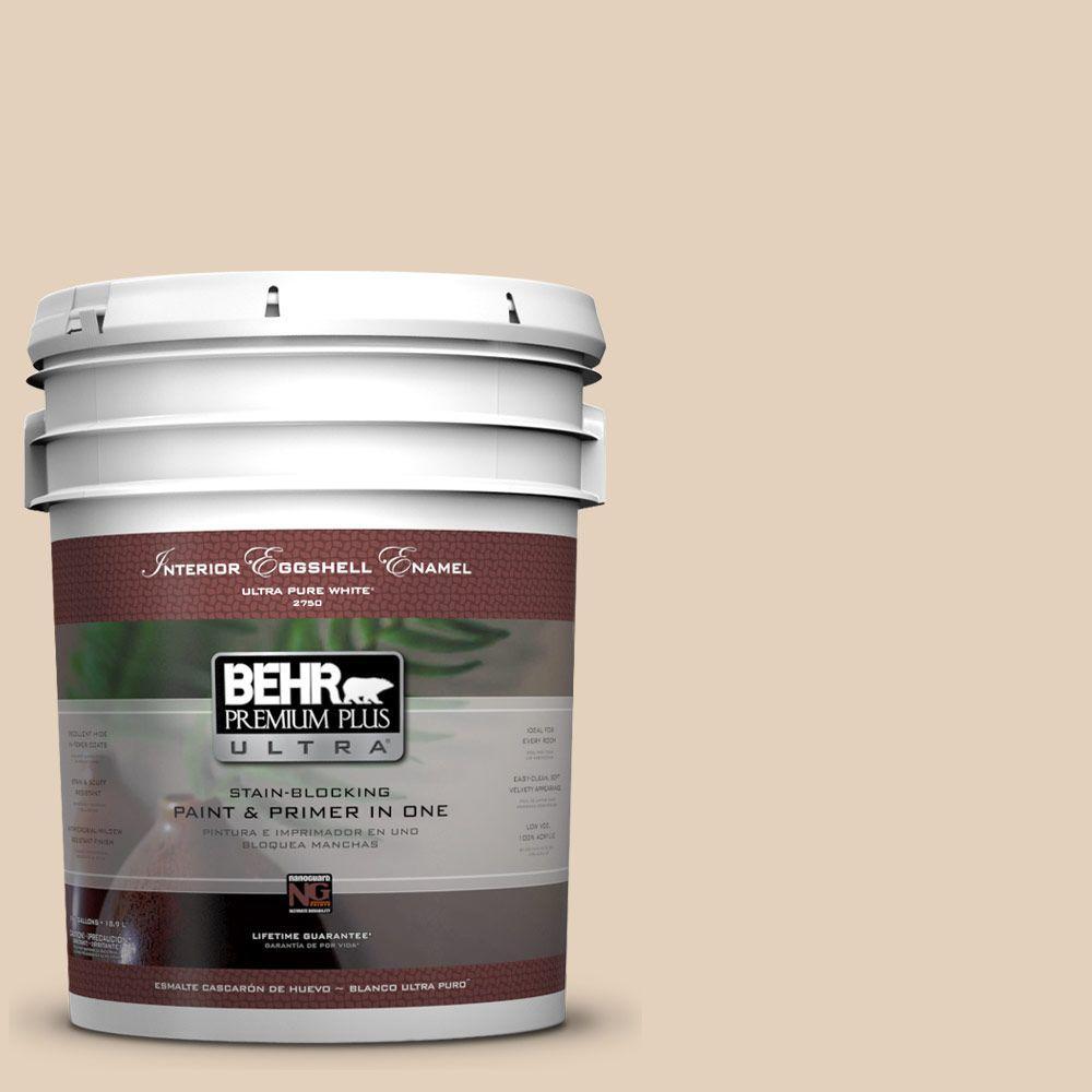 BEHR Premium Plus Ultra 5-gal. #ICC-21 Baked Scone Eggshell Enamel Interior Paint