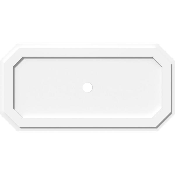 Ekena Millwork 34 In W X 17 In H X 2 In Id X 1 In P Emerald Architectural Grade Pvc Contemporary Ceiling Medallion 192770548872 The Home Depot