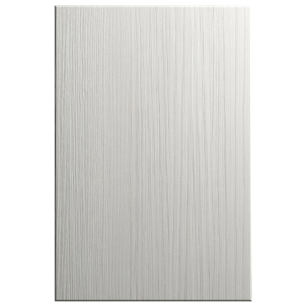 Hampton Bay Designer Series 11x15 in. Edgeley Cabinet Door Sample in Glacier