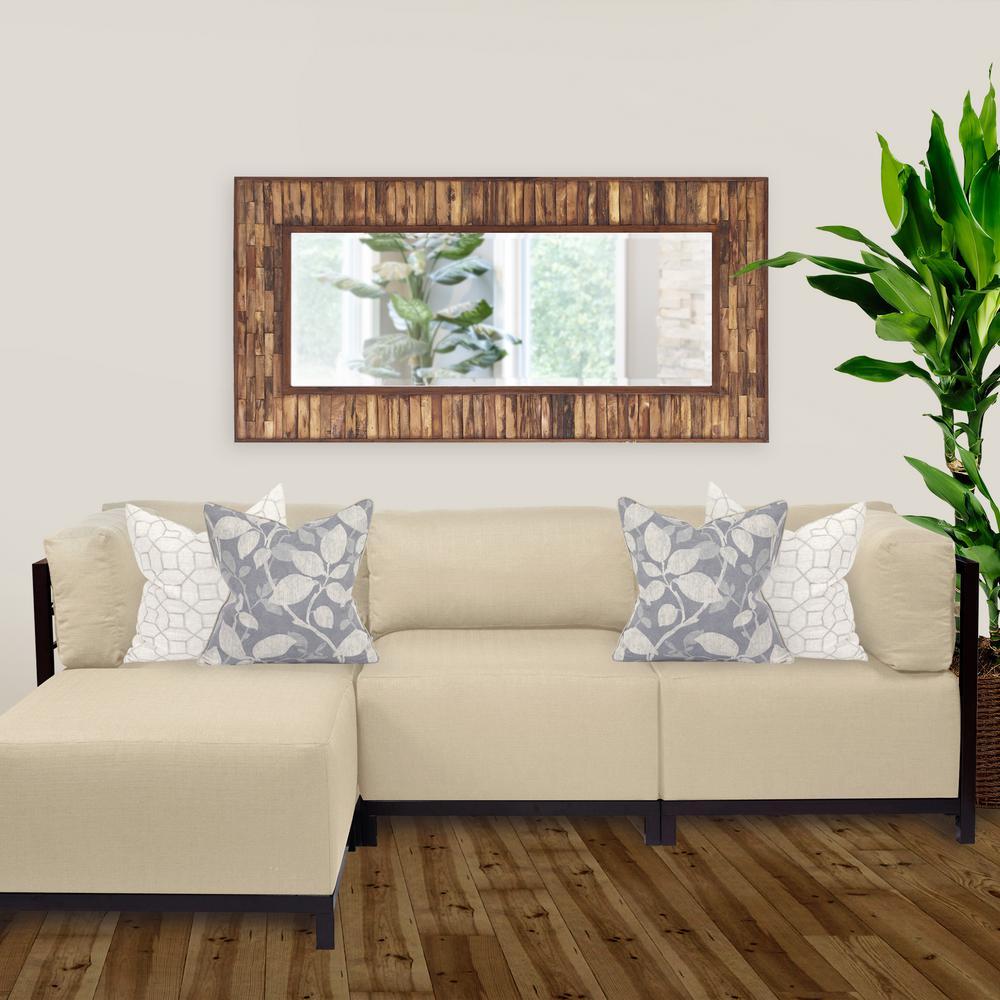 30 in. x 60 in. Wood Plank Framed Mirror