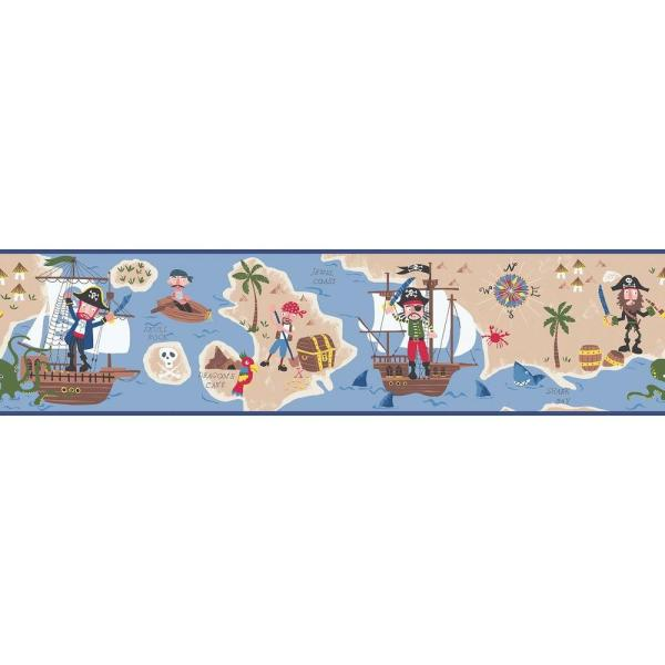Chesapeake Raegan Pirates Ahoy Wallpaper Border HAS01161B