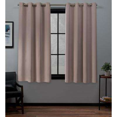 Academy Total Blackout Grommet Top Curtain Panel Pair in Blush - 52 in. W x 63 in. L (2-Panel)