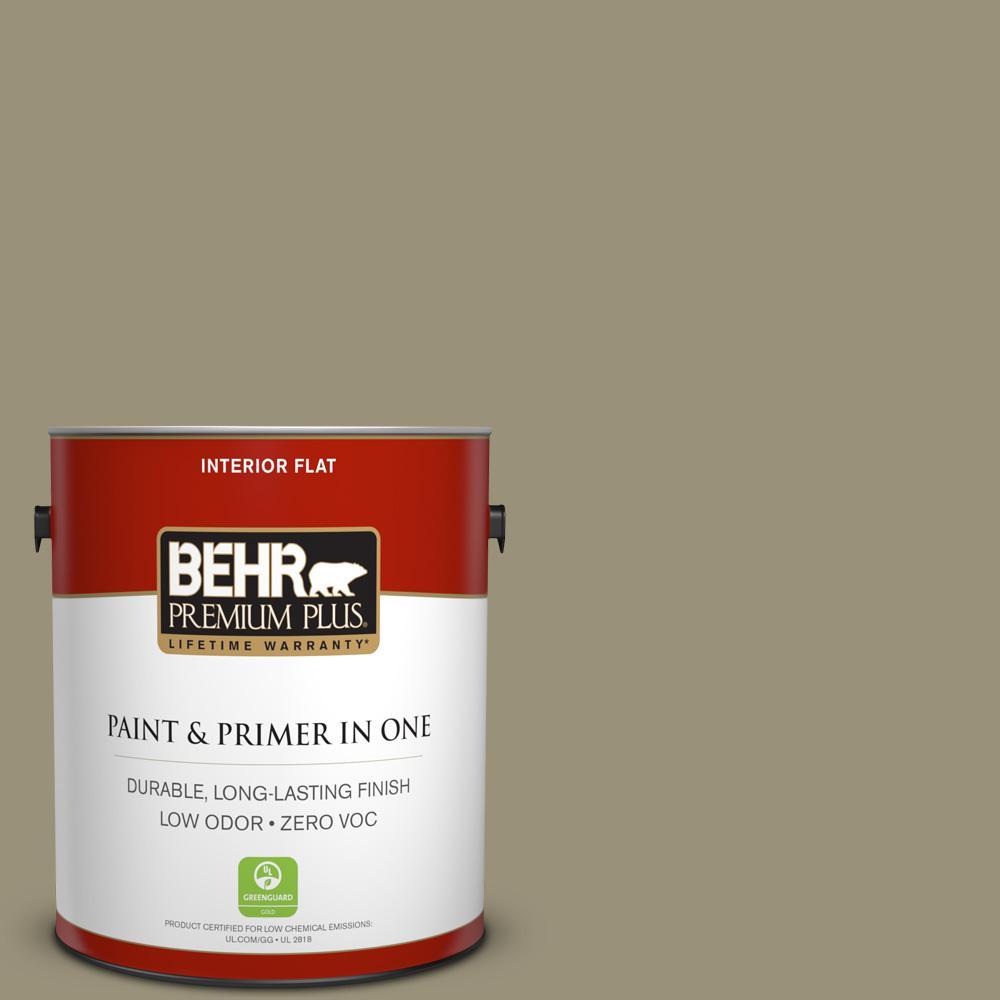 BEHR Premium Plus 1-gal. #N340-5 Grassy Savannah Flat Interior Paint