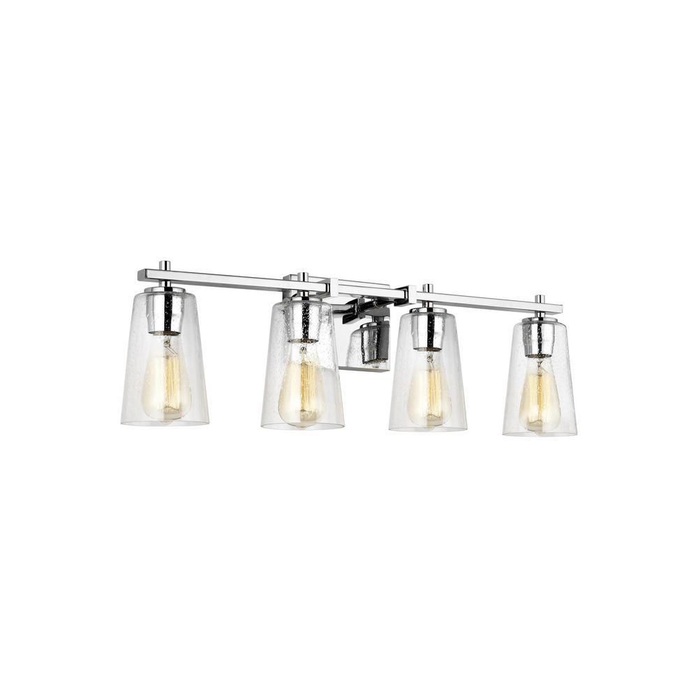 Feiss Mercer 4-Light Chrome Bath Light