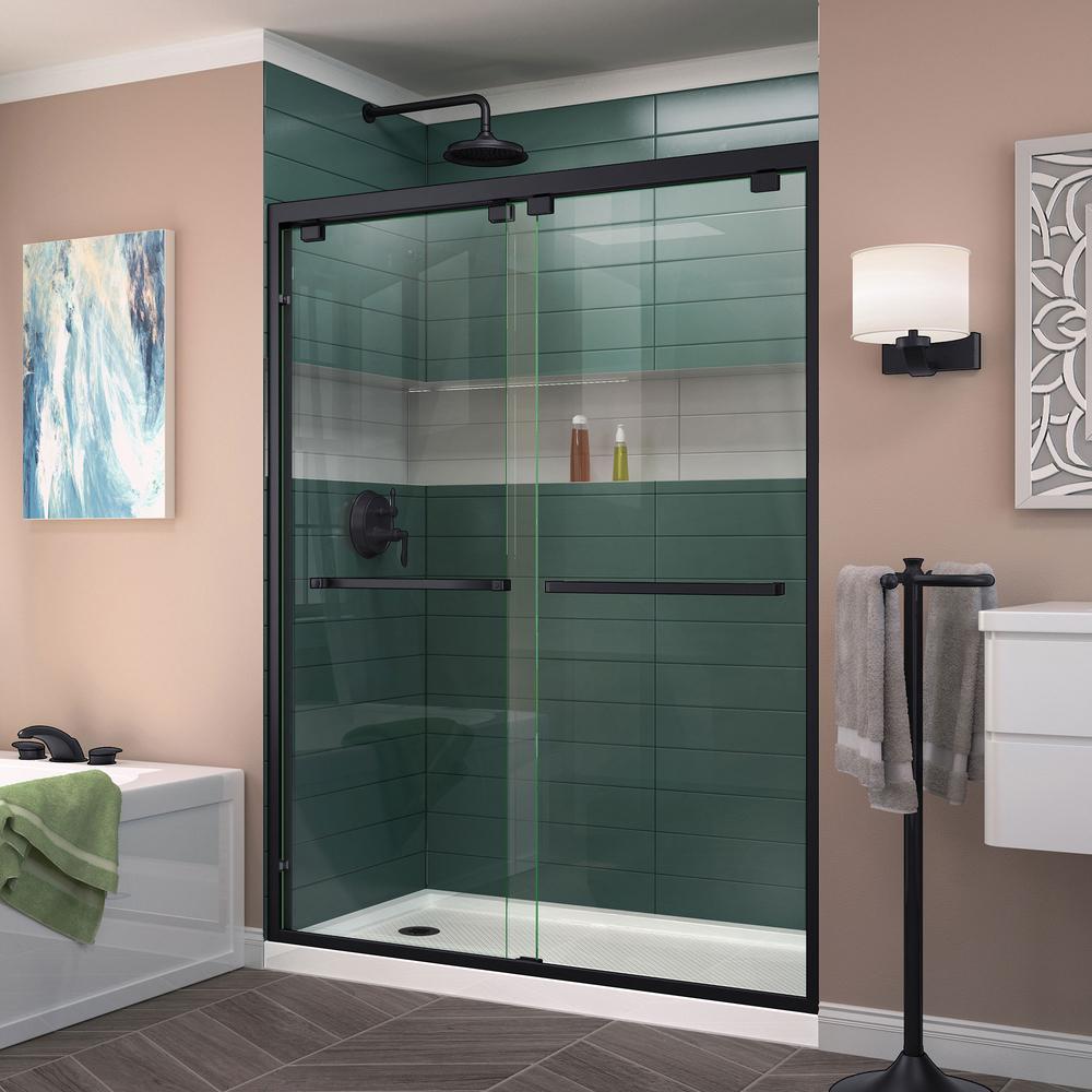 Black Shower Doors Showers The Home Depot