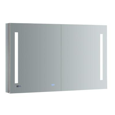 Tiempo 48 in. W x 30 in. H Recessed or Surface Mount Medicine Cabinet with LED Lighting and Mirror Defogger